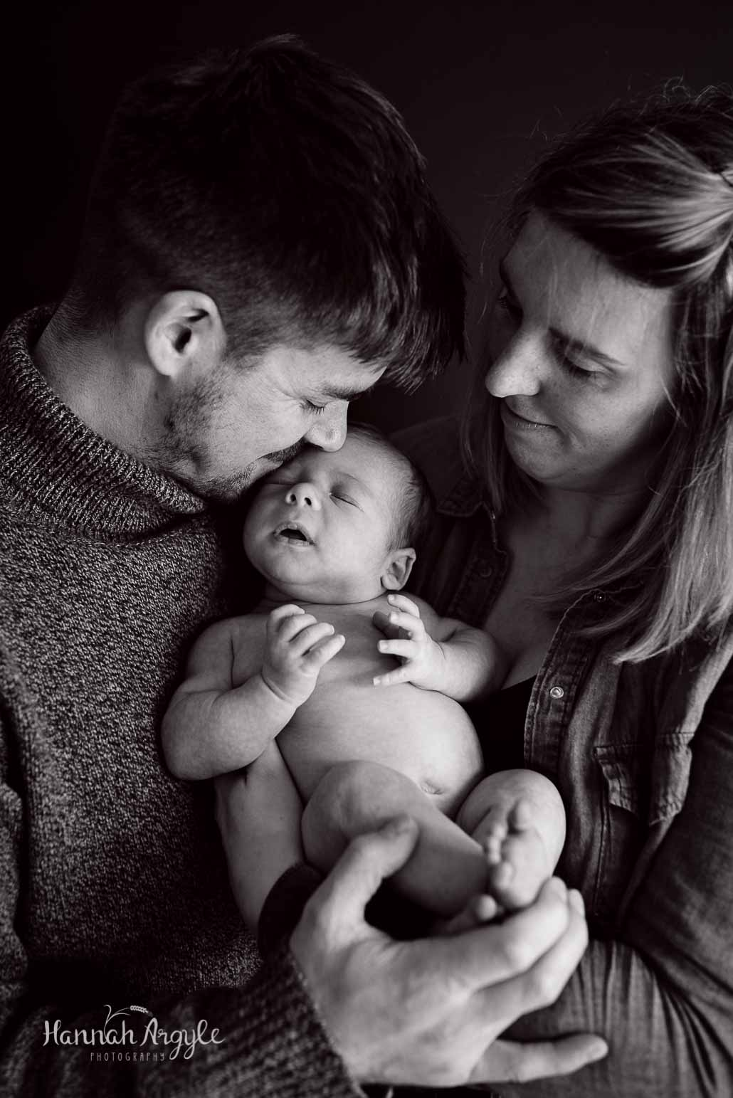 family newborn baby photoshoot