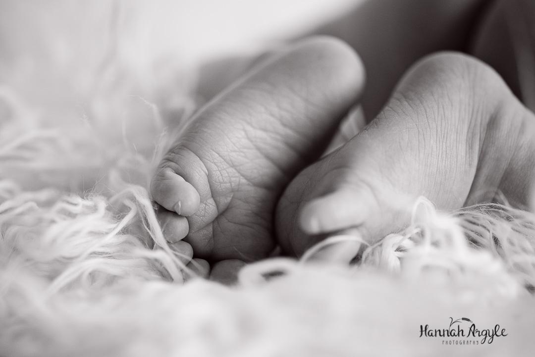 Newborn macro Closeup Feet