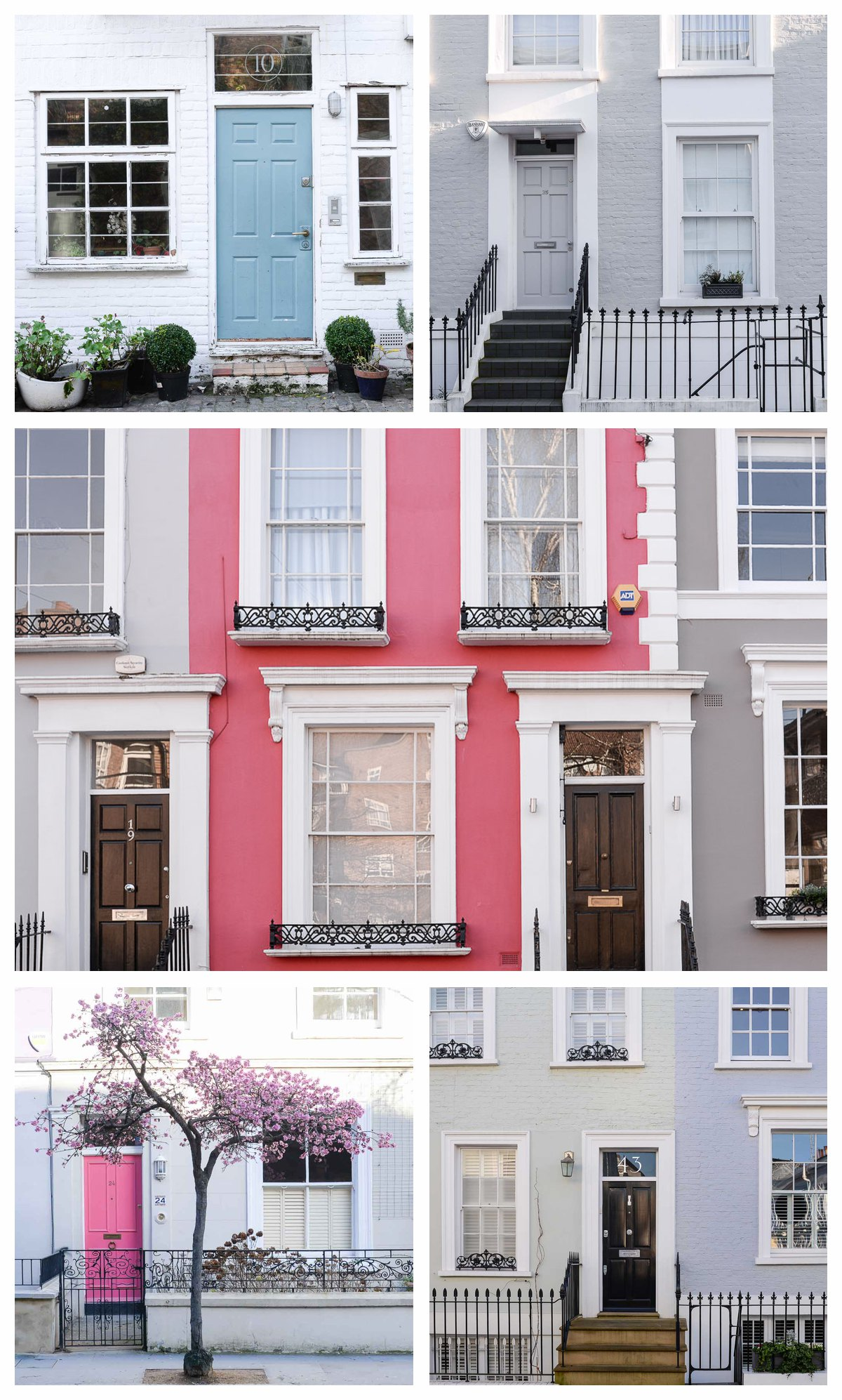 A handful of pretty facades
