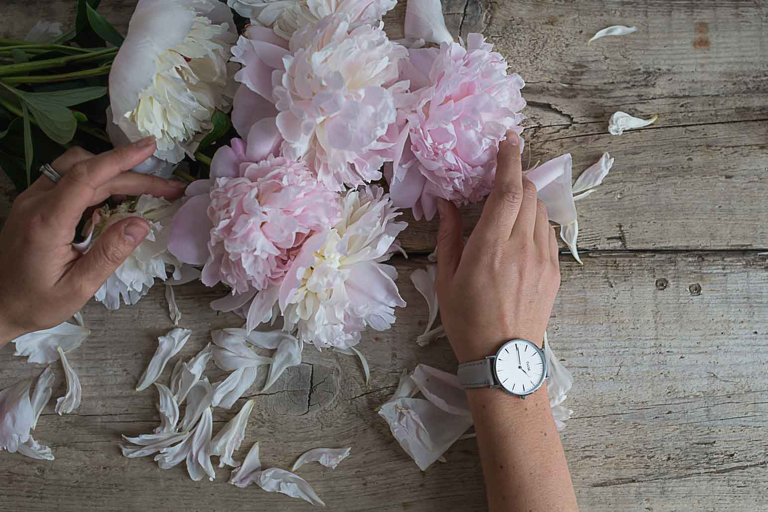 Cluse time for summer peonies and watch