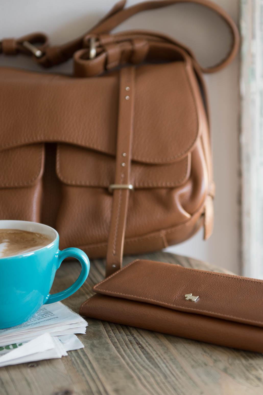 Radley leather purse details