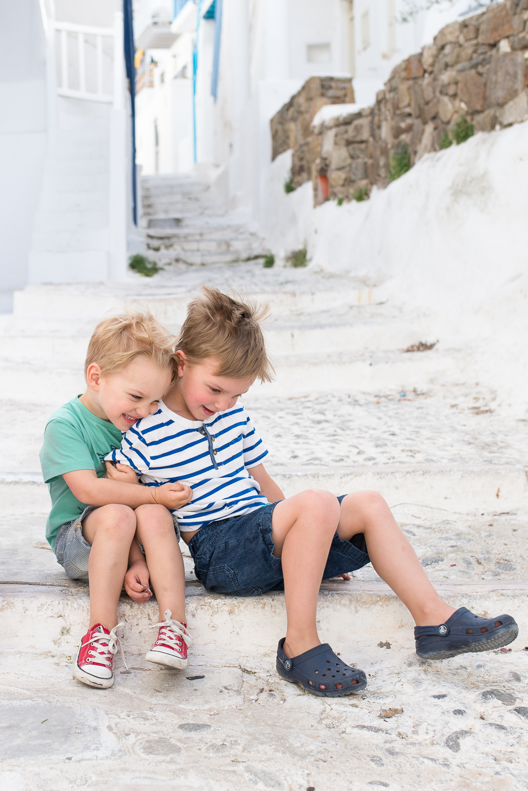 little boys in greece