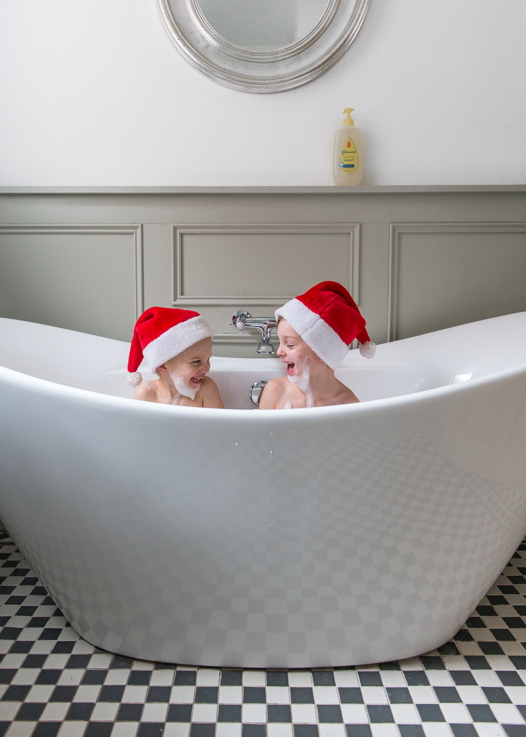 little boys in the bath