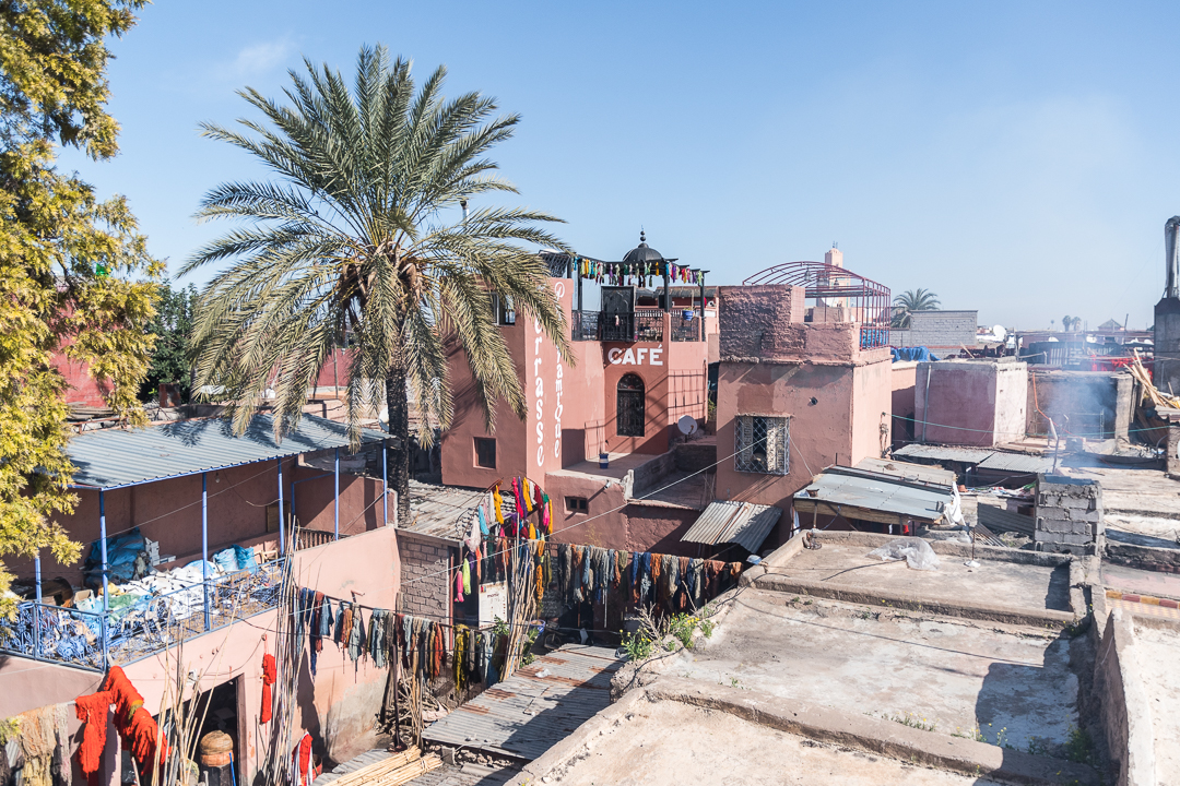 Marrakesh, Morrocco, view from the roof