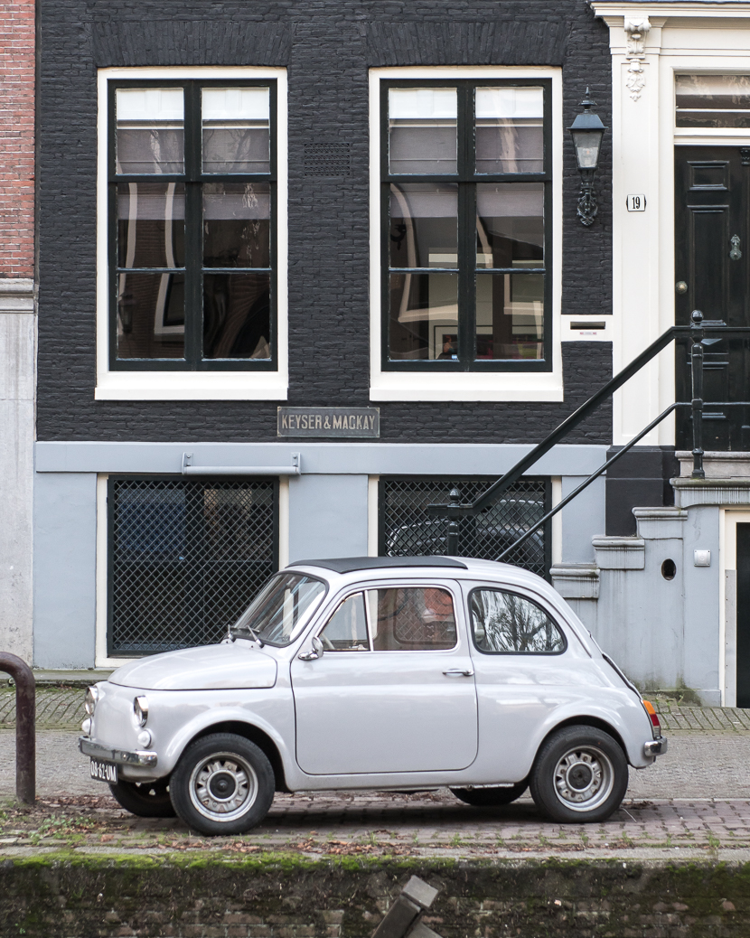 Vintage car in Amsterdam