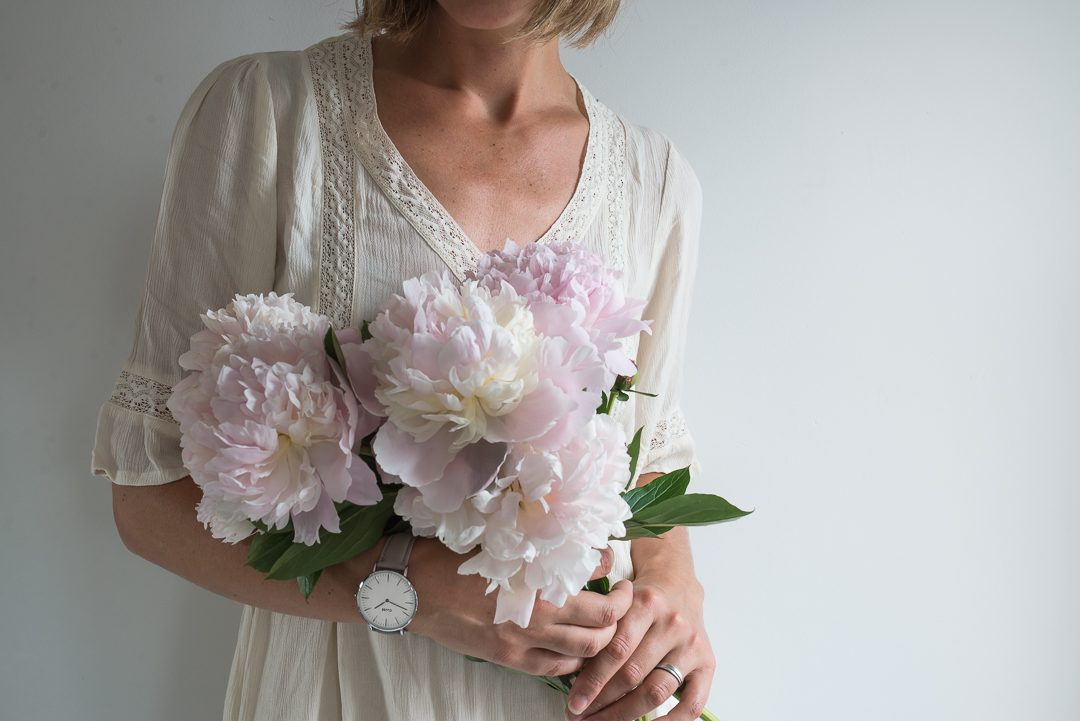 Cluse watches summer flowers peonies