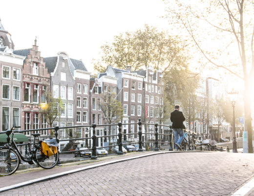 Amsterdam autumn sunset