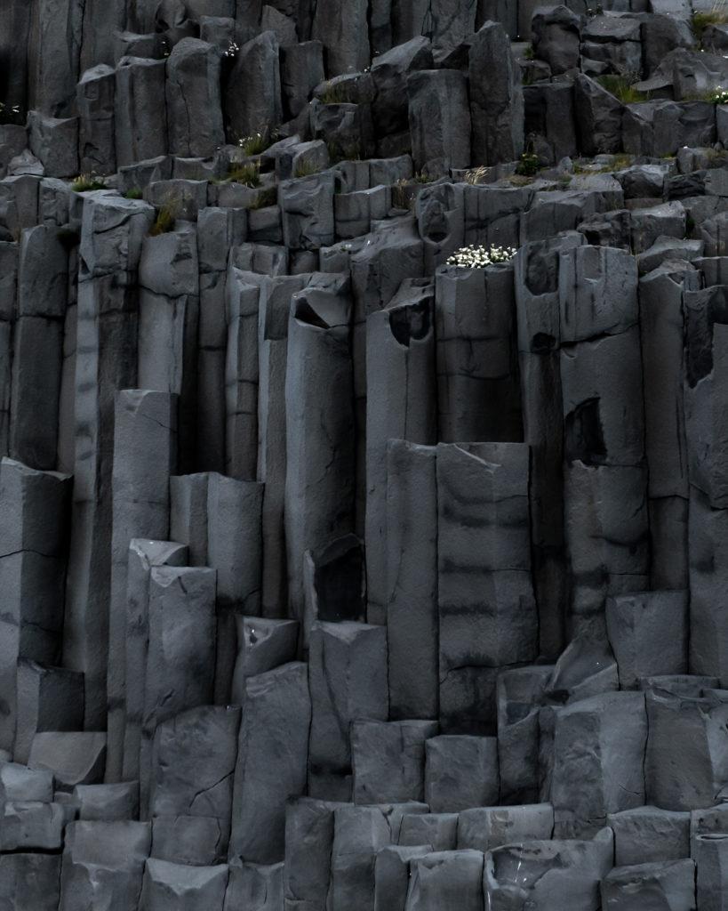 Reynisfjara black beach basalt columns