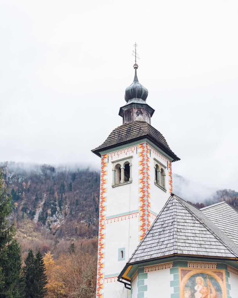 church at lake Bohinj Slovenia